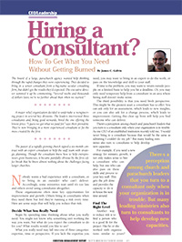 Burned by Consultants Article