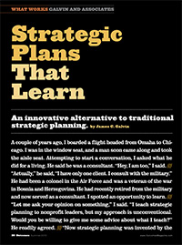 Strategic Plans That Learn Article