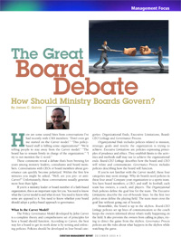 The Great Board Debate Article