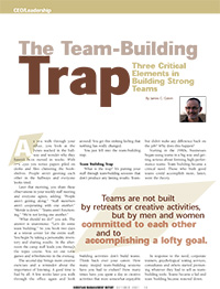 The Team Building Trap Article