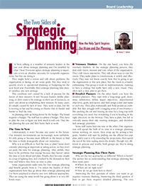 Two Sides of Strategic Planning Article